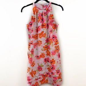 LOFT Floral Sleeveless Waist Tie Midi Dress⭐️